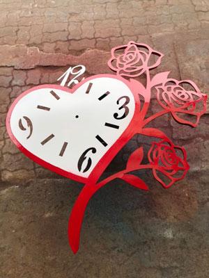 Đồng hồ hoa hồng cnc